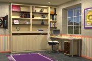 Горизонтальная шкаф-кровать подростка