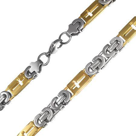 Массивная мужская цепь из ювелирной стали