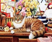 """Картина по номерам """"Кот ученый"""" 40х50"""