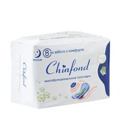 Лечебные прокладки ночные CHINFOND, 8 шт.