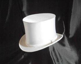 Белоснежная шляпа шапокляк