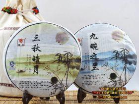 """Шу и Шен пуэр И Бан """"Сан Цю""""+""""Джиуван Ци Лан """" 2010г, 714гр."""