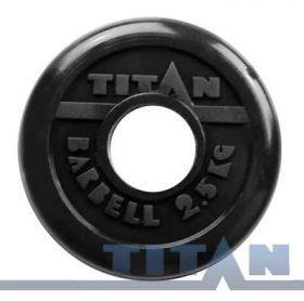 Диск обрезиненный Titan 2,5 кг. (d 51 мм)