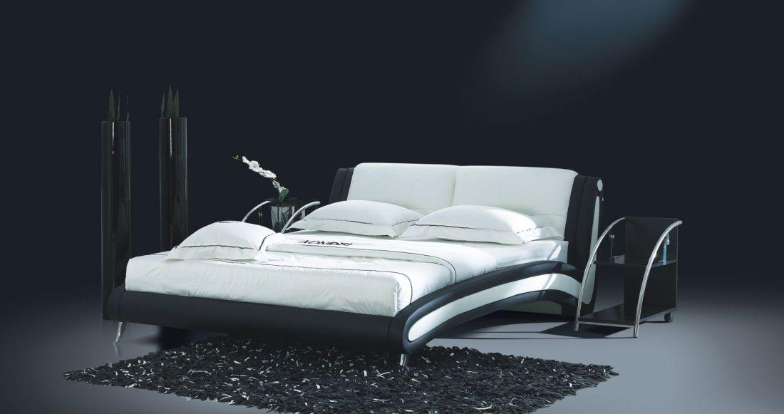 Кровать 959 NightCat (Черно-белая) | LineSleep