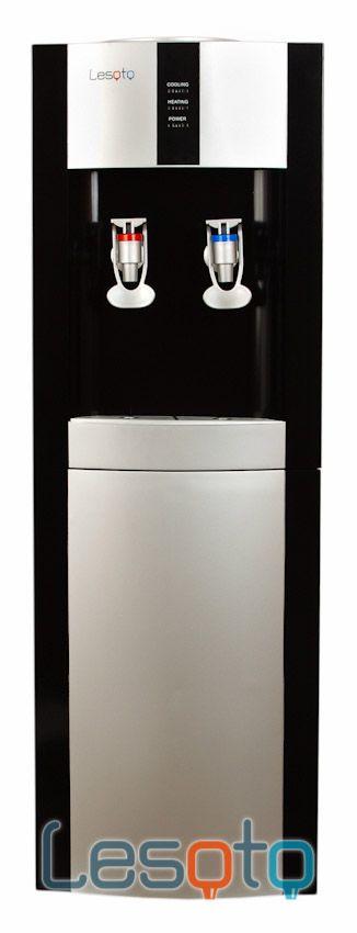 Кулер для воды Lesoto 16 LD/E С охлаждением черный с серебристой вставкой
