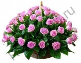 Корзина с 41 розой Эквадор