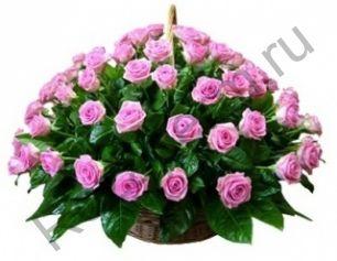 Корзина с 41 розовой розой