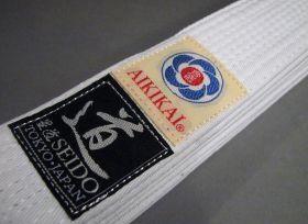 Белый пояс (White-obi)  из Японии (SEIDO) модель - CLASSIC