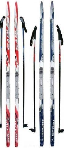 Лыжный комплект NNN 150-160 см с креплением SNOWMATIC (РОССИЯ)