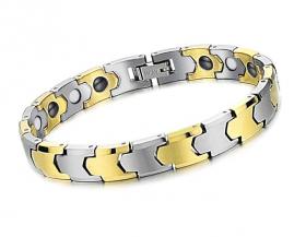 Магнитный браслет с золотым напылением