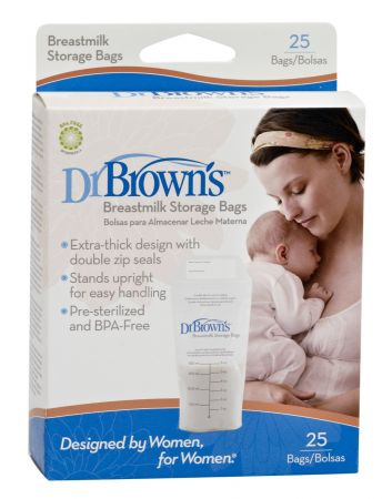 Dr.Brown's Пакеты для хранения грудного молока 180 мл - 25 шт. (Арт. S4005)
