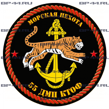 Наклейка 55 ДМП