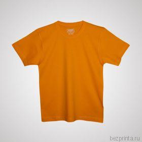 Детская оранжевая футболка без рисунка MODERN