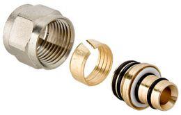 Соединитель коллекторный обжимной для металлополимерной трубы