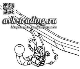 Фаркоп Thule 570400 для Toyota RAV4 2013-, с крюком-автоматом BMA