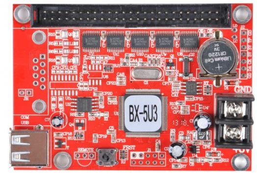 Контроллер восьмирядный BX-5U3 для одно и двухцветного табло в комплекте с хабом