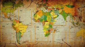 "Стенд ""Карта мира"", 10 карманов А4, размер 150х85 см."