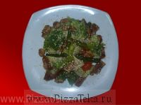 Теплый салат с белыми грибами
