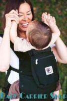 Слинг-рюкзак ERGO Baby CARRIER Эргономичный детский рюкзачок-переноска для малышей «OPTIONS COLLECTION Covers India» [Эрго BCC001-OCPI черный + 3 сменные декоративные накладки]