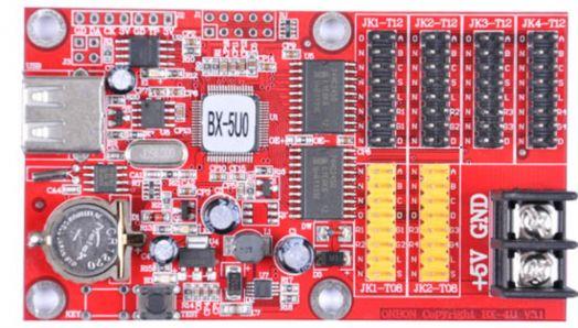 Контроллер четырехрядный BX-5U0 для одно и двухцветного табло