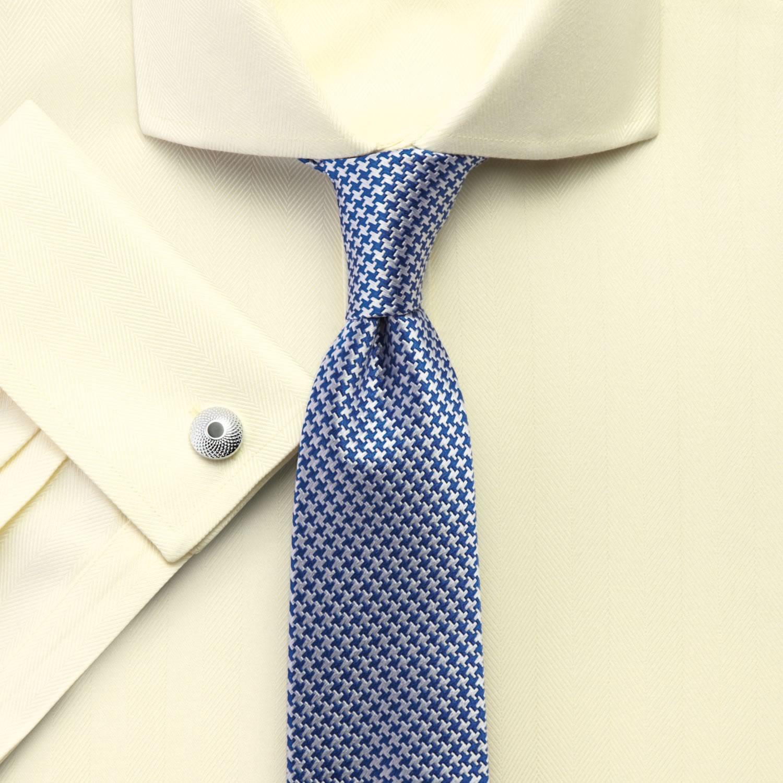 14507dbe79e Мужская рубашка под запонки желтая Charles Tyrwhitt сильно приталенная  Extra Slim Fit не мнущаяся Non Iron