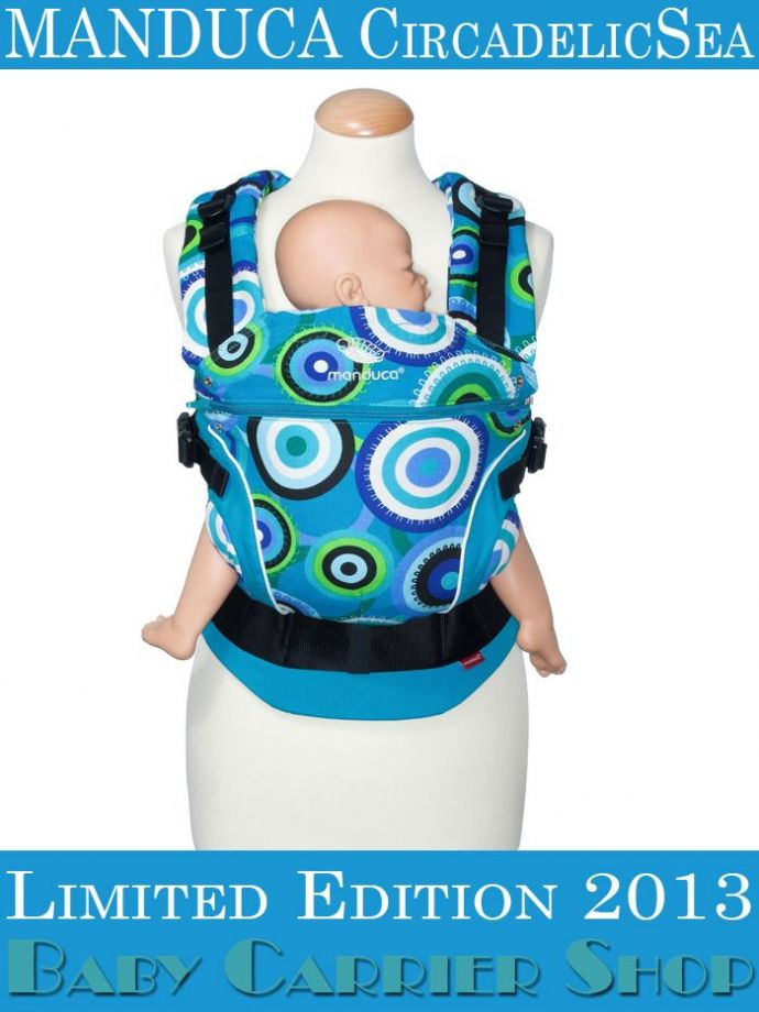 Слинг-рюкзак MANDUCA Baby And Child Carrier Эргорюкзак для переноски малышей «CircadelicSea Limited Editions» [Мандука слингорюкзак Море]