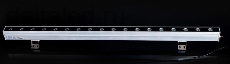 Линейный светодиодный прожектор, герметичный 24W 220V RGB