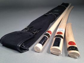 Комплект оружия (KUSAKURA): бокен, дзе, танто из Японии в чехле  (IWATA)  - WSS