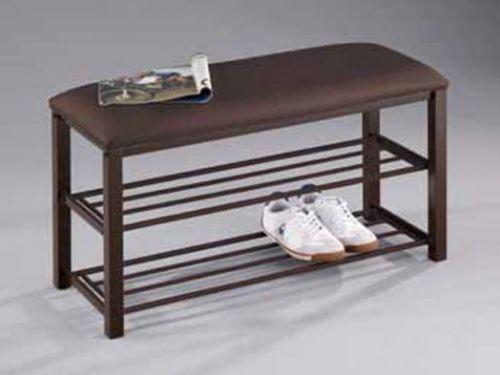 Банкетка-обувница SA044 коричневая