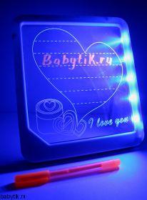 LED Доска для рисования Синяя