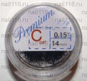 Ресницы в банках 0,3 гр черные (PREMIUM) C 0,15 14 мм (HS Chemical)