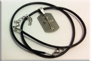кулон крест (стальной)