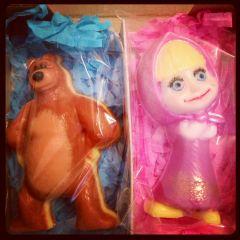 """Набор мыла """"Маша и медведь"""""""