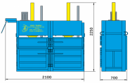 Пресс гидравлический пакетировочный двухкамерный ПГП-7-Д
