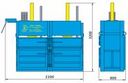 Пресс гидравлический пакетировочный двухкамерный ПГП-15М-Д