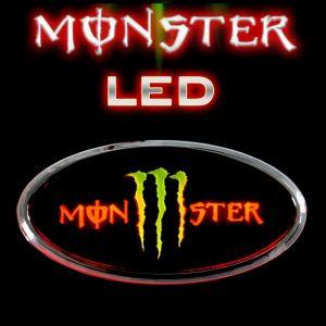 3D эмблема MONSTER на заднюю дверь с LED-подсветкой 2WAY, D&D