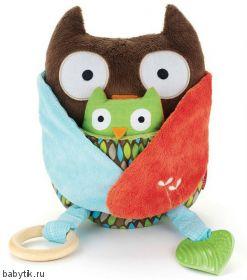 Развивающая игрушка-обнимашка Сова