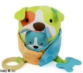 Развивающая игрушка-обнимашка Собака