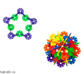 """Конструктор """"Цветочки"""" (107 предметов) Snowflake"""