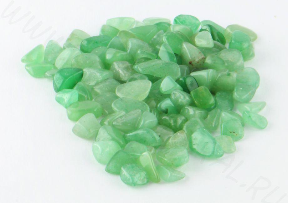 Мелкая галька  - Зеленый кварц