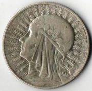 5 злотых. 1932 год. Серебро. Польша.