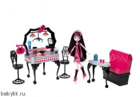 Набор: Дайнер / Die-ner с Дракулаурой. Monster High