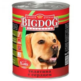 Зоогурман Big Dog Телятина с сердцем д/взрослых собак 850гр