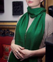 Зелёный палантин из кашемира