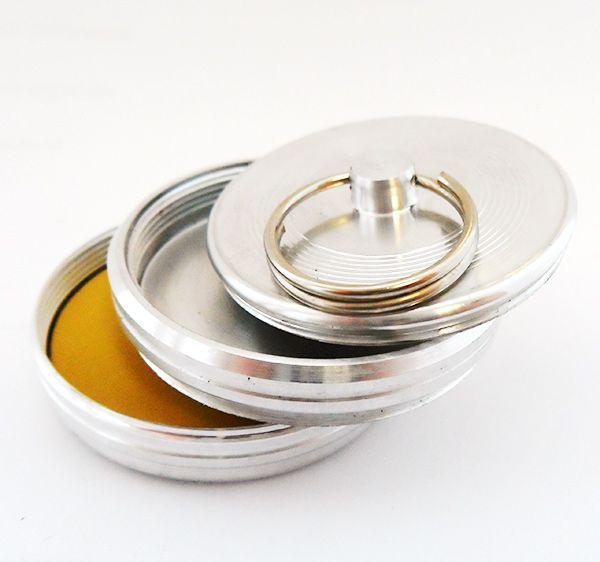 Оснастка металлическая ручная - Брелок с кольцом, со штемпельной подушкой