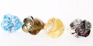 Кольцо Роза малое муранское стекло