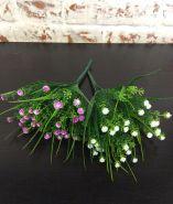 Трава с мелким цветком (розовый, белый,сиреневый)