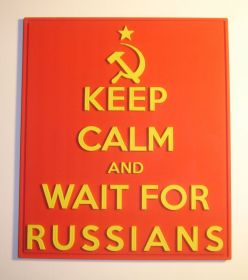 Нашивка KEEP CALM and WAIT FOR RUSSIANS