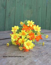Ромашка кустик  желтая