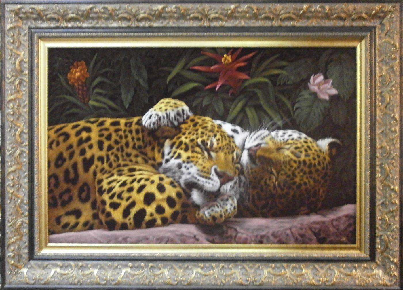 """Картина """"Под сенью тропического леса""""."""